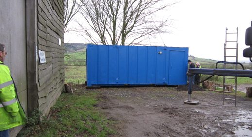 now we're happy timber suppliers, we have a new cabin for tea breaks