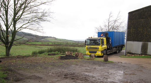 here it comes, new tea hut to be.. now we're happy timber suppliers
