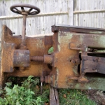 the old re-saw from the band mill waiting for collection