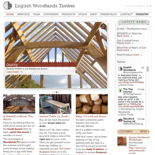 english woodlands timber website